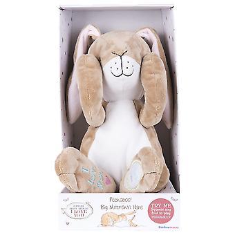 Rainbow Designs Big Nut Brown Peekaboo Hare Plush Toy