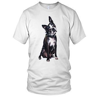 Boston Terrier cane Ladies T Shirt