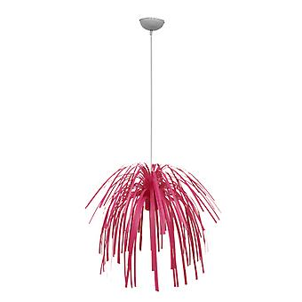 Present Time Fireworks Bright Pink Pendant Lamp