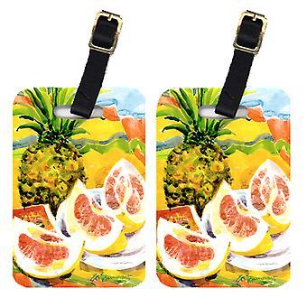 Carolines aarteita 6026BT pari 2 ananas Matkalaukkujen Tunnisteet