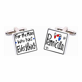 For the Man Who Has Everything.. Cufflinks by Sonia Spencer, in Presentation Gift Box. Hand painted