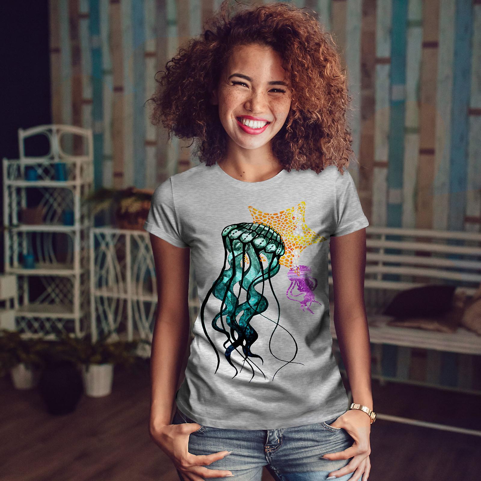 Gelée de poisson mignon Animal femmes GreyT-chemise   Wellcoda