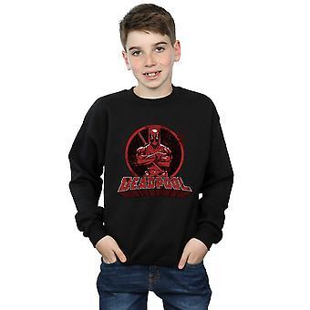 Marvel jungen Deadpool gekreuzt Arme Logo Sweatshirt
