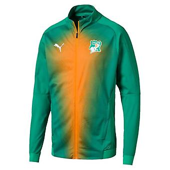 2018-2019 Ivory Coast Puma Stadium Jacket (Pepper Green)