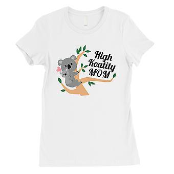 高 Koality ママ レディース白綿 t シャツ シャツ面白いお母さんプレゼント