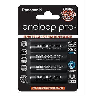 Panasonic Eneloop Pro AA NiMH Eneloop 2500mAh klaar voor gebruik van oplaadbare batterij BK 3HCDE/4BE (4 Eneloop Pro batterijen)