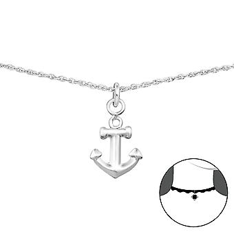 Anchor - 925 Sterling Silver Chokers - W35136x