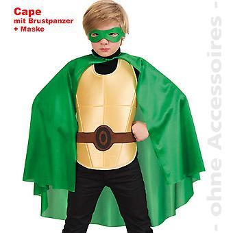 Crianças de fantasia super herói verde herói Ninja turtle fantasia infantil