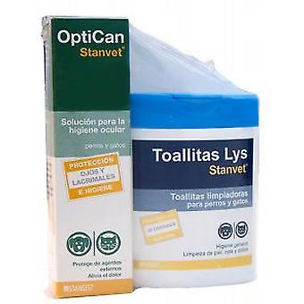 Stanvet Optican + Wipes Lys 40 Einheiten