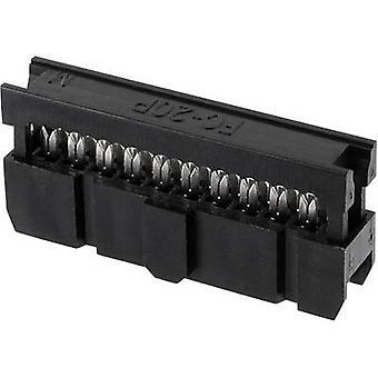 ECON forbinde Pin stik kontakt afstand: 2,54 mm samlede antal stifter: 24 nr. rækker: 2 1 computer(e) bakke