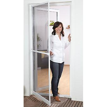 Fly screen insect protection for doors Kit aluminum frame 100 x 210 cm in white