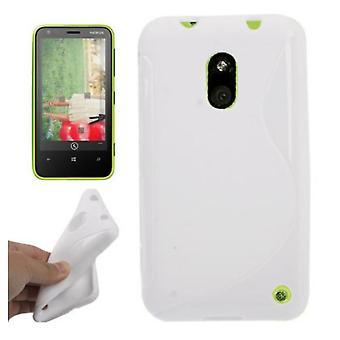 Mobiele case TPU case voor mobiele Nokia Lumia 620 wit