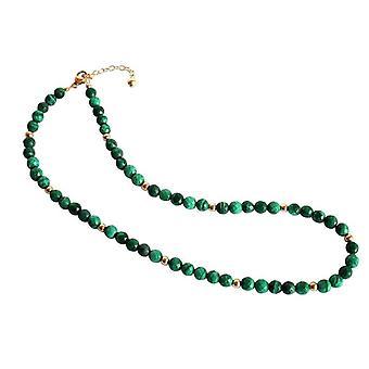 Collier de malachite Malachite Collier or plaqué collier de pierre gemme collier Karan