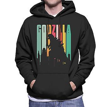 Godzilla Regenbogen Streifen Herren Sweatshirt mit Kapuze