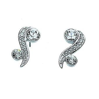 Oliver Weber Post Earring Precious Rhodium Crystal