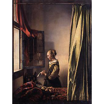 Girl Reading a Letter at an Open Window, Johannes Vermeer, 50x40cm