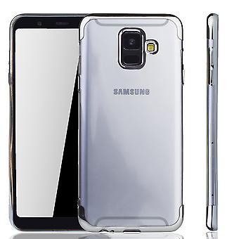 Samsung Galaxy A6 2018 Silver -puhelimen kotelo - Kirkas - TPU Silikonikotelon taustakotelon suojakotelo läpinäkyvässä hopeassa