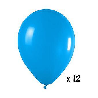 Ballongen og balloon tilbehør 12 turkis bobler