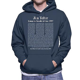 Rugby Jim Telfer Lions Vs South Africa 1997 Speech Men's Hooded Sweatshirt