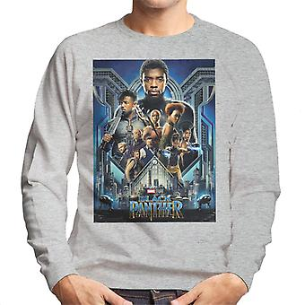 Marvel Black Panther Movie Poster Men's Sweatshirt