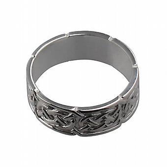 Silver 8mm Celtic Wedding Ring Size Z+1