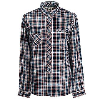 PRETTY GREEN Navy Classic Fit Check Shirt
