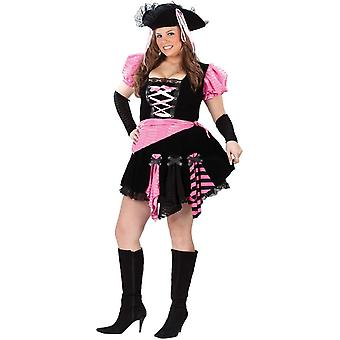 Costume adulte Pirate Sexy rose taille Plus