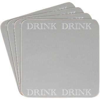 Leonardo Classic Grey Kitchen Range Set Of 4 Coasters
