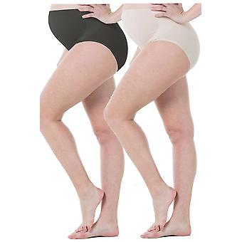 Mavis Seamless Belly Support Maternity Panty - 2 Pack