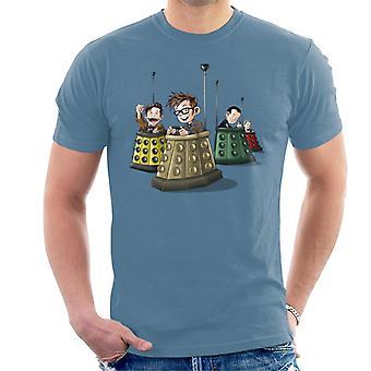 Dump az orvos, aki Dalek dodgem lökhárító autók férfiak ' s T-shirt