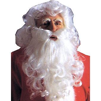 Santa peruca e barba de economia para o Natal