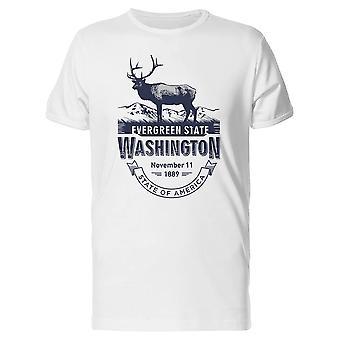 Evergreen State Washington 1889 Tee homme-Image de Shutterstock