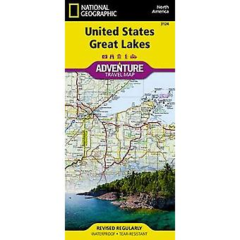 United States - Great Lakes Adventure Maps by National Geographic Map