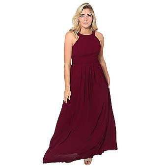 KRISP Pleated Front Chiffon Maxi Dress