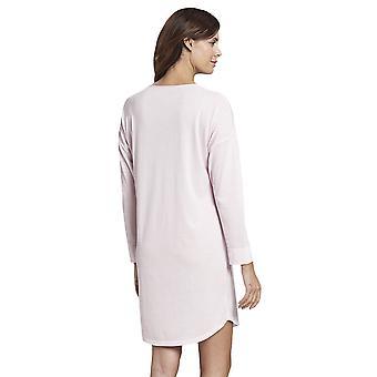 Rasc 1193720-14706 Mujeres's Pure Pink Minimal Print Cotton Nightdress