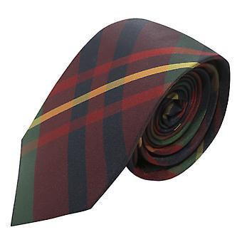 Contemporary Red / Blue Tartan Check Tie, Necktie