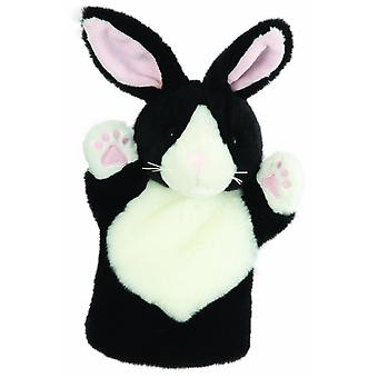 Hand Puppet - CarPets Glove - Rabbit (Black & White) Soft Doll Plush PC008003