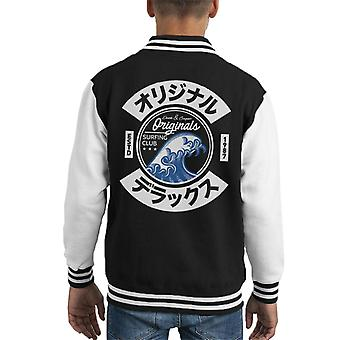Divide & Conquer Japan Wave Surfing Club Kid's Varsity Jacket