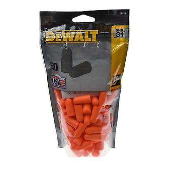 Dewalt Unisex Disposable Earplugs 50 Pair Zip-Log Bag