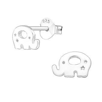 Elefante - 925 Sterling Silver pianura orecchini - W20566X