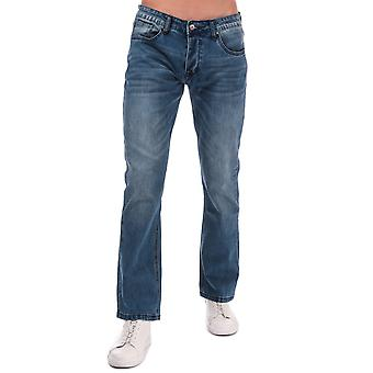 Mens Duck and Cover Campbell Bootcut Jeans in Denim