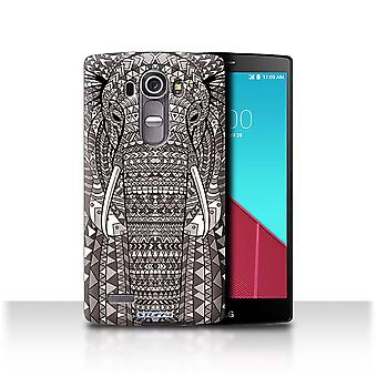 STUFF4 Case/Cover for LG G4/H815/H818/Elephant-Mono/Aztec Animal