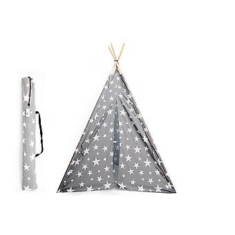 160cm Tepee Grey With white Stars