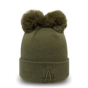 New Era Women's Winter Hat Bobble Beanie - LA Dodgers