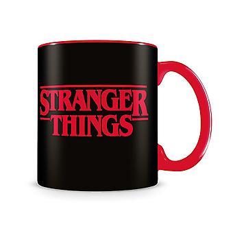 Taza del logotipo de Stranger Things