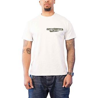 Kaksikymmentäyksi lentäjät T-paita Trench Jumpwave Band logo uusi virallinen miesten valkoinen