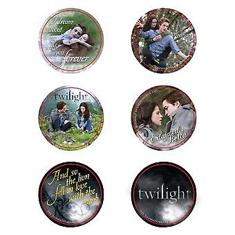 Twilight Pin Set of 6 Style E (Edward & Bella)