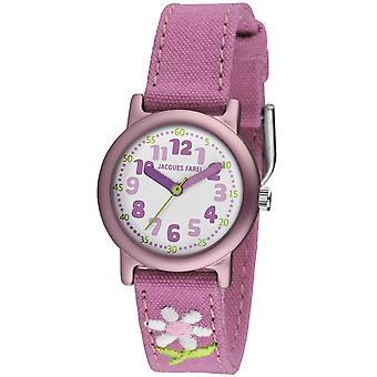 JACQUES FAREL Eco děti Wristwatch analogový křemenná dívka ORG 1111 květ