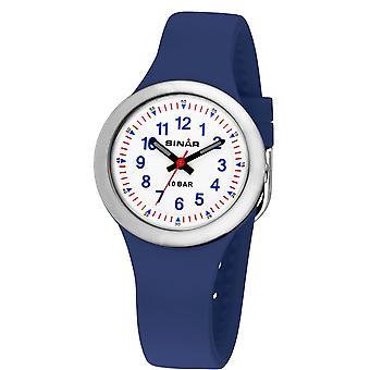 SINAR jeugd horloge Kids horloge analoge Quartz jongens silicone lint XB-35-2 blauw