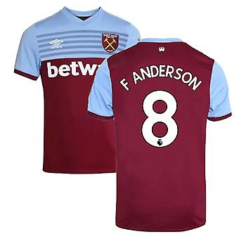 2019-20 West Ham Home Shirt (F ANDERSON 8)